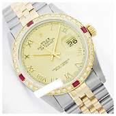 Rolex Ladies Two Tone 14K GoldSS Roman Dial