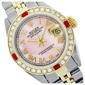 Rolex Ladies Two Tone 14K Goldss Roman Dial with