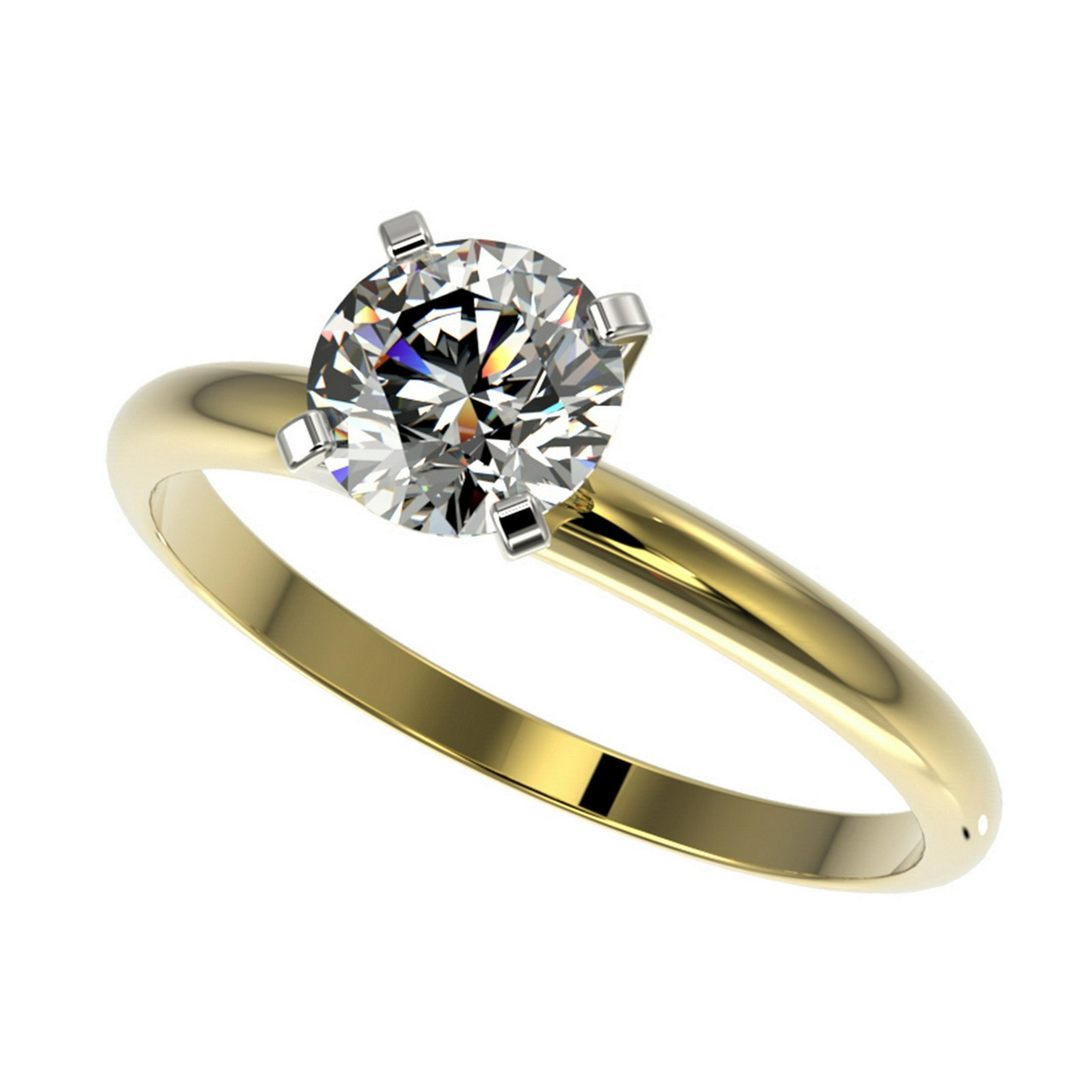 1.03 ctw H-SI/I Diamond Ring 10K Yellow Gold -