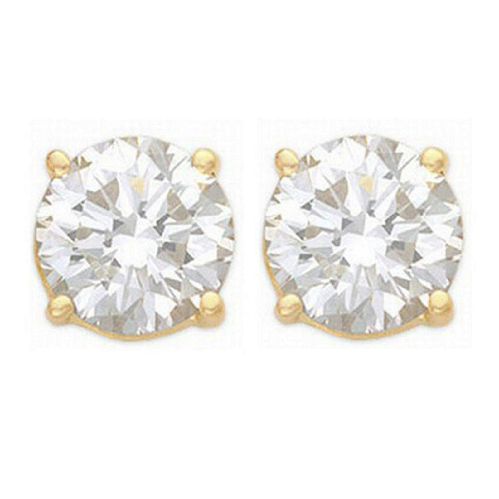 2.0 ctw VS/SI Diamond Stud Earrings 14K Yellow Gold -