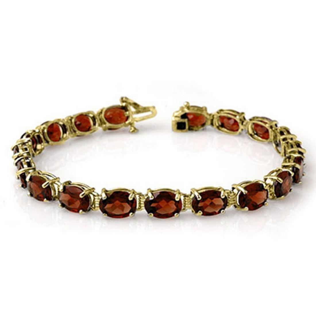 28.0 ctw Garnet Bracelet 10K Yellow Gold - REF-62V2Y -