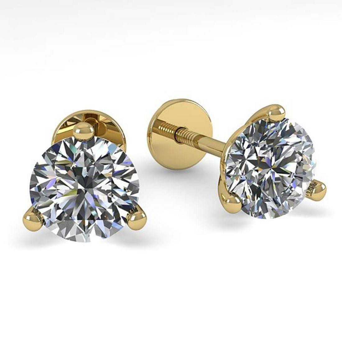 0.52 ctw VS/SI Diamond Stud Earrings 14K Yellow Gold -