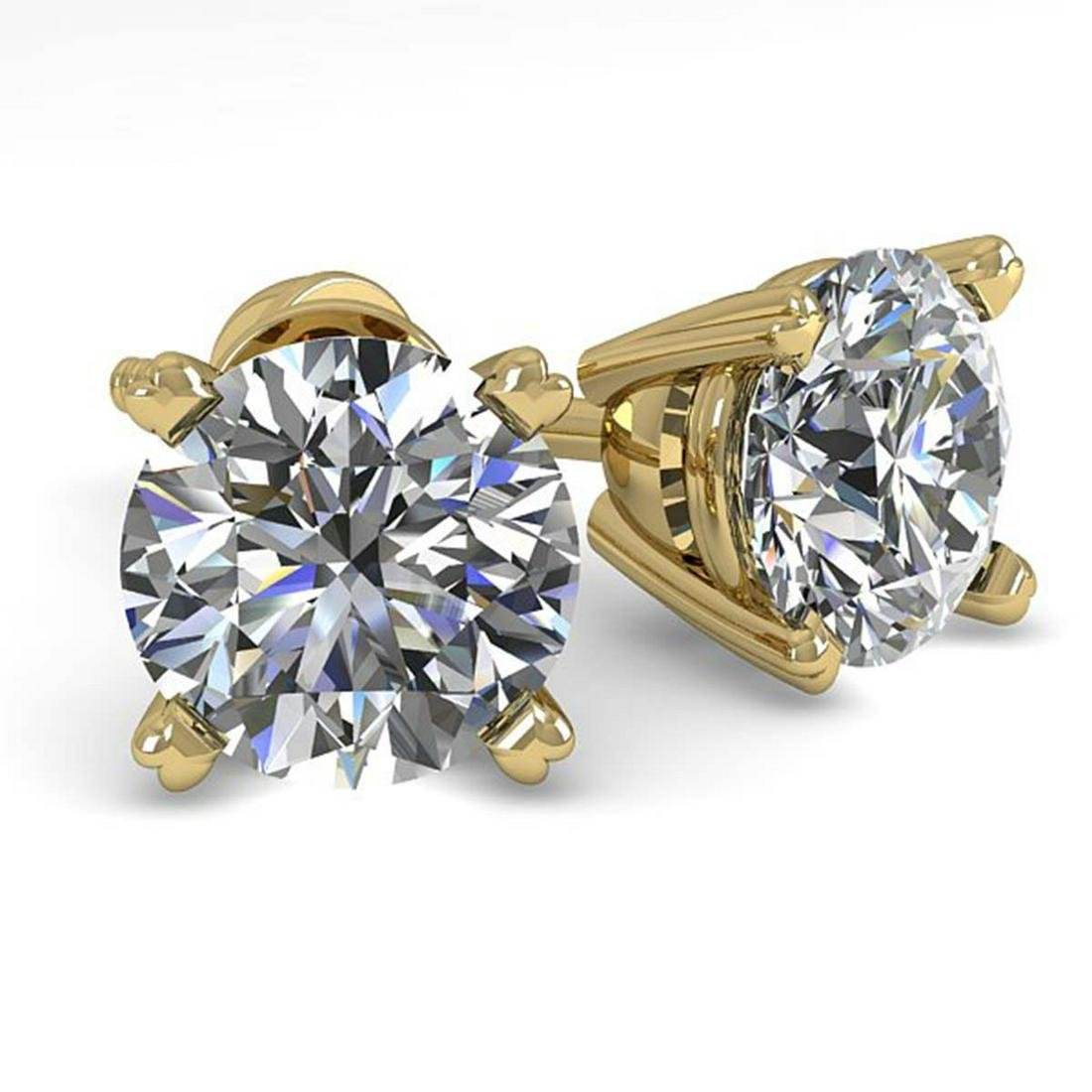 1.53 ctw VS/SI Diamond Stud Earrings 14K Yellow Gold -
