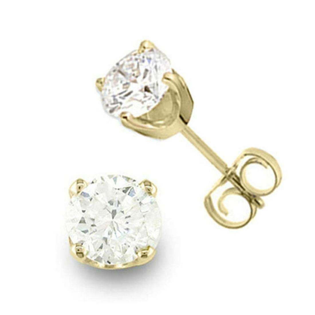 0.50 ctw VS/SI Diamond Stud Earrings 14K Yellow Gold -