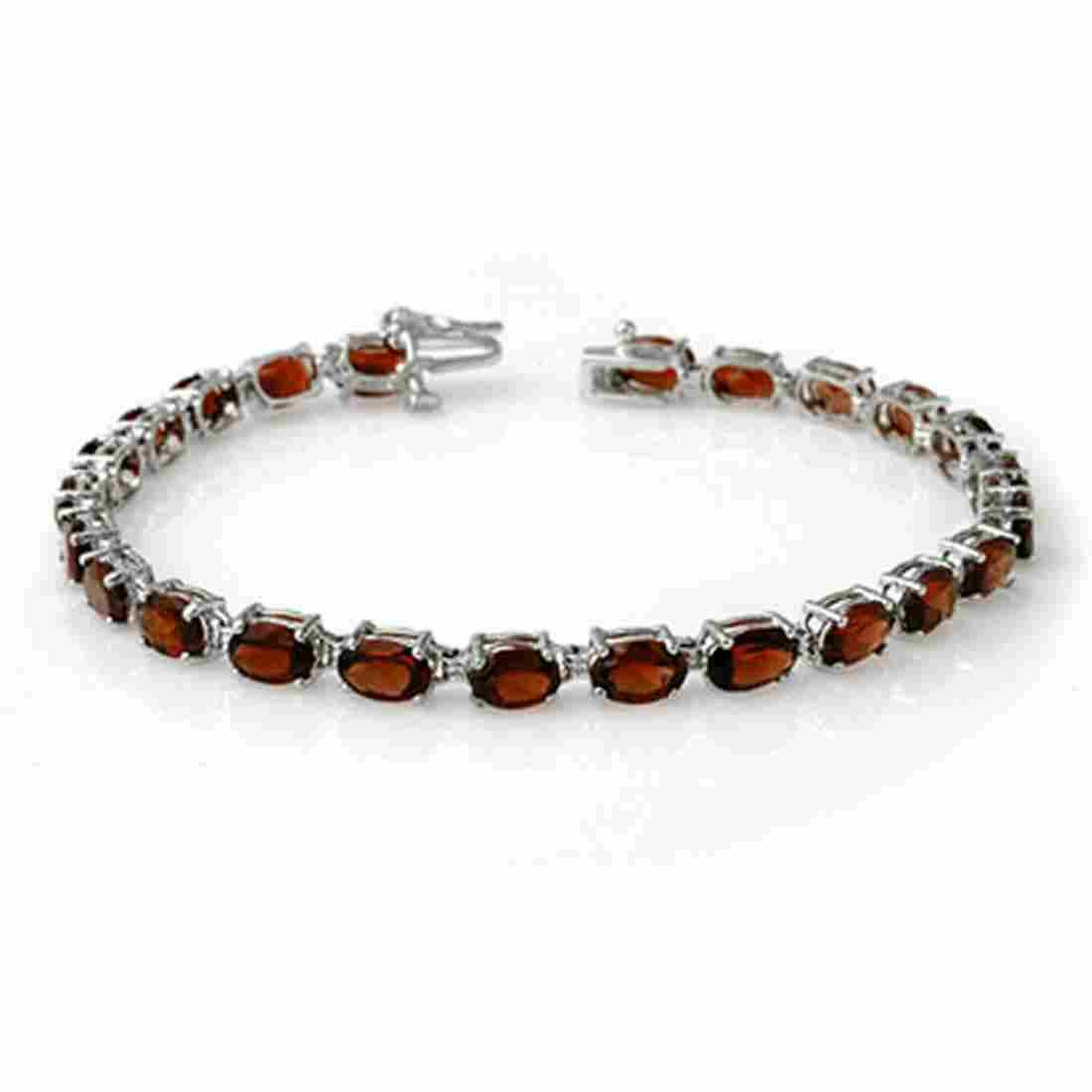 15.50 ctw Garnet Bracelet 10K White Gold - REF-48K2W -