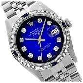 Rolex Ladies Stainless Steel Diam Dial  DiamSapphire