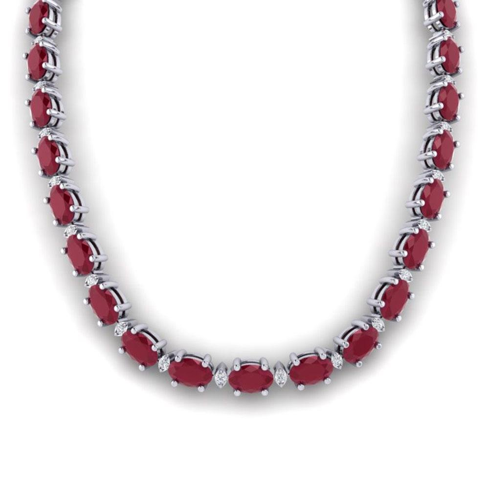 71.85 ctw Ruby & VS/SI Certified Diamond Eternity
