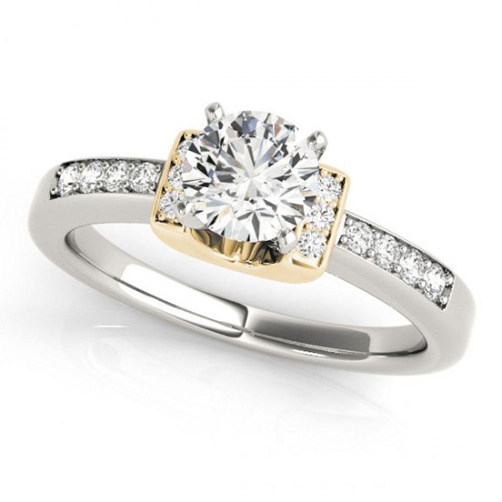 0.86 ctw Certified VS/SI Diamond Solitaire Ring 18k