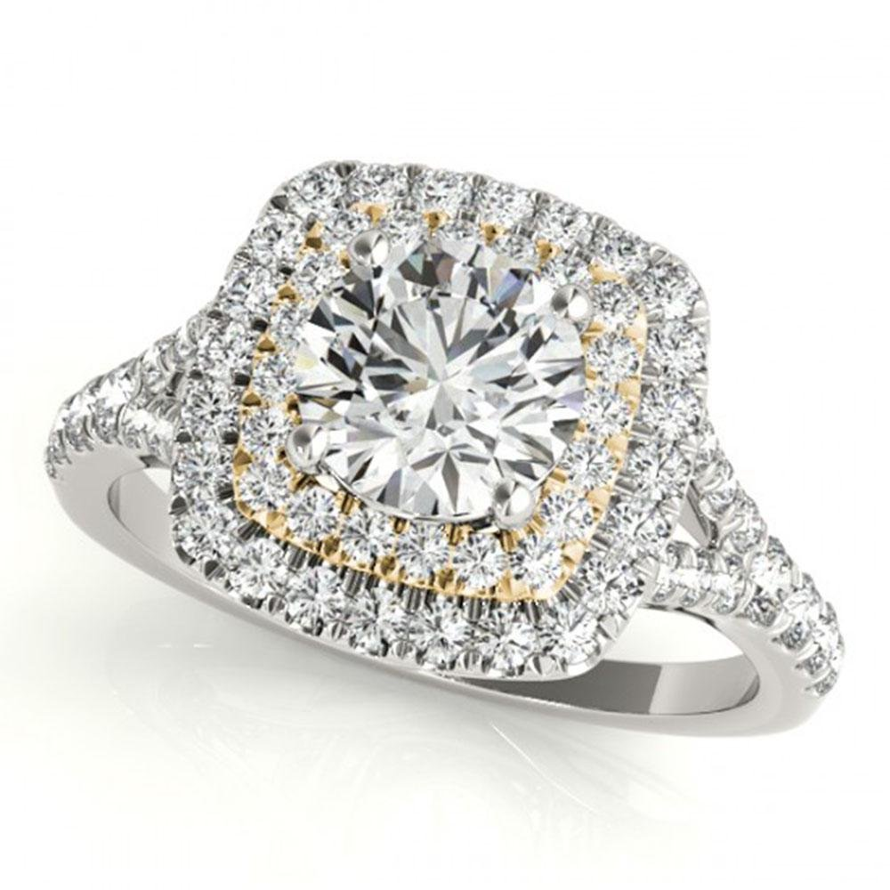 1.6 ctw Certified VS/SI Diamond Solitaire Halo Ring 18k