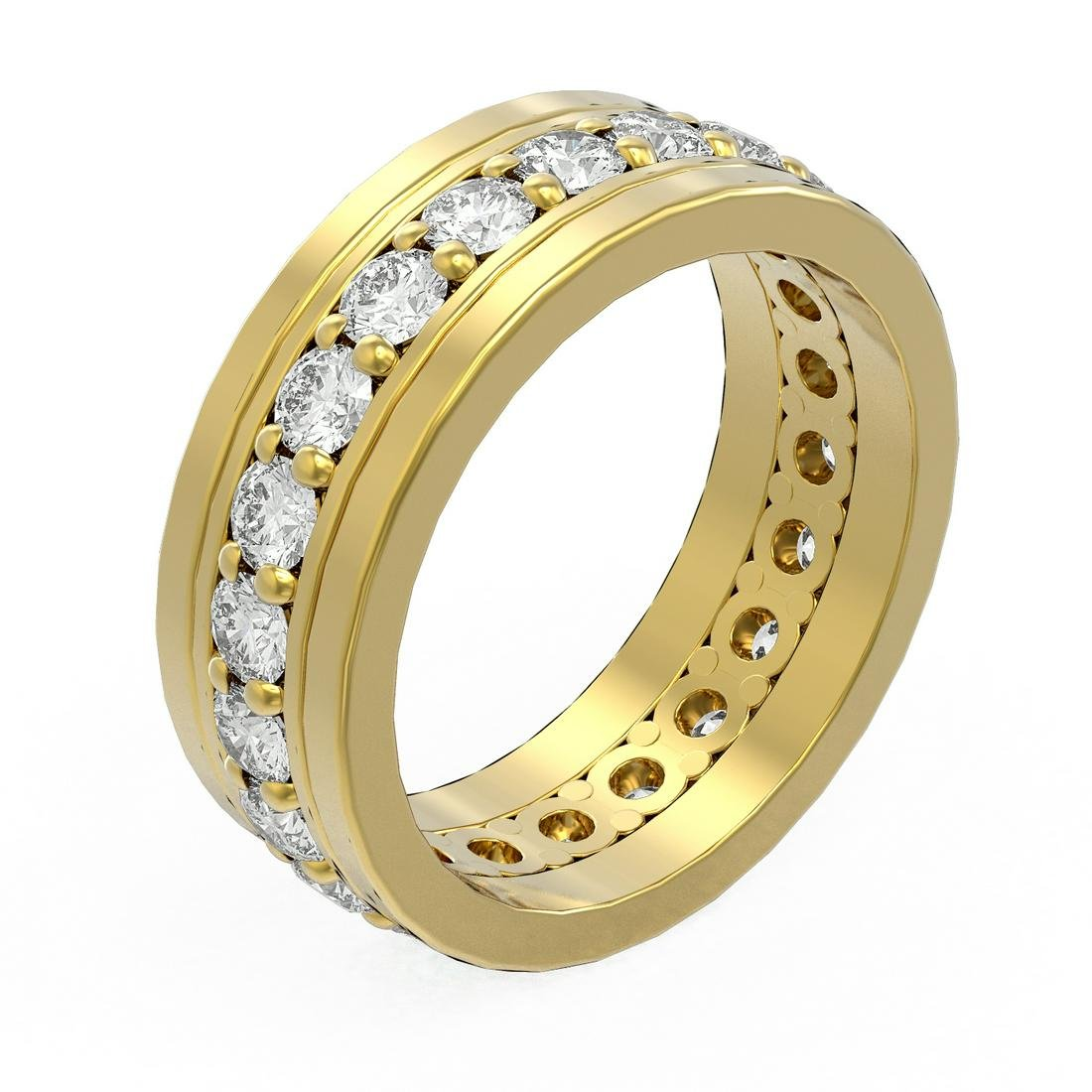 3.08 ctw Diamond Men's Ring 18K Yellow Gold -