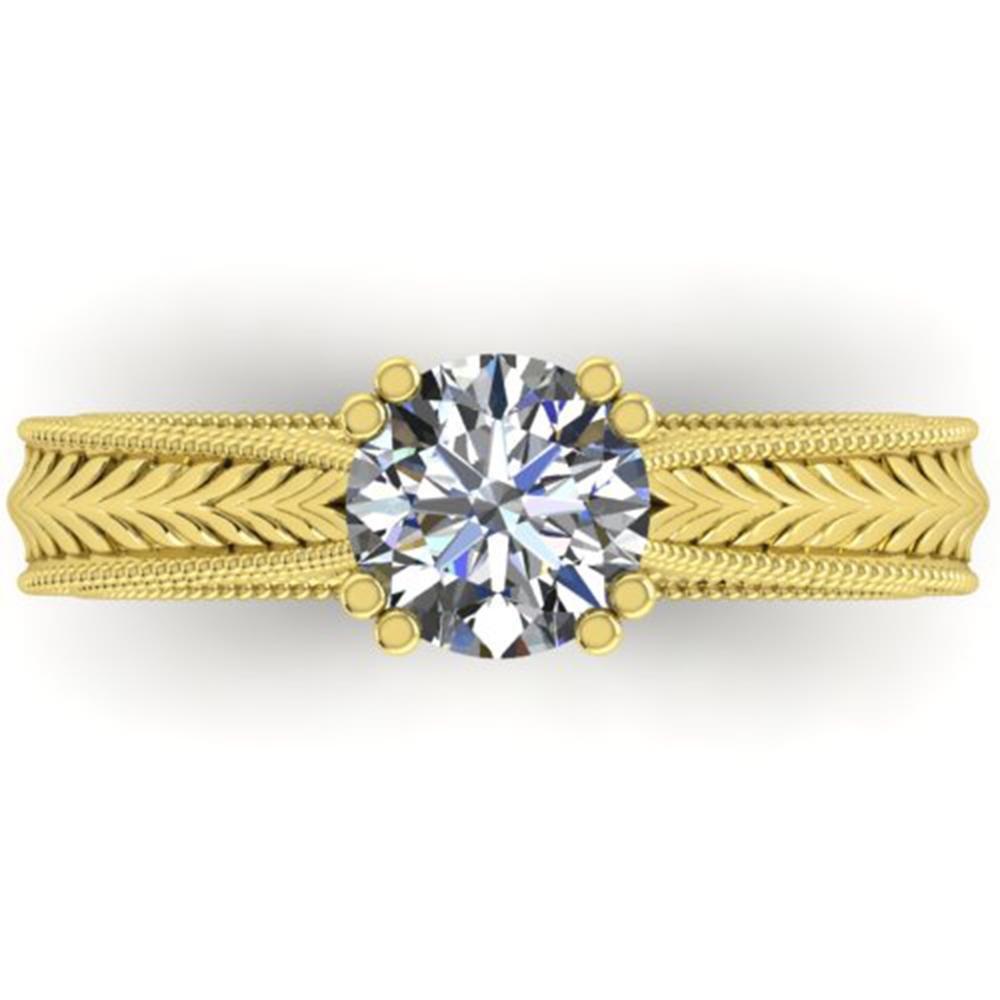 1.06 ctw Solitaire VS/SI Diamond Ring Art Deco 14k