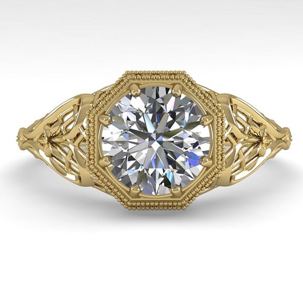 1.50 ctw VS/SI Diamond Engagment Ring Art Deco 18k