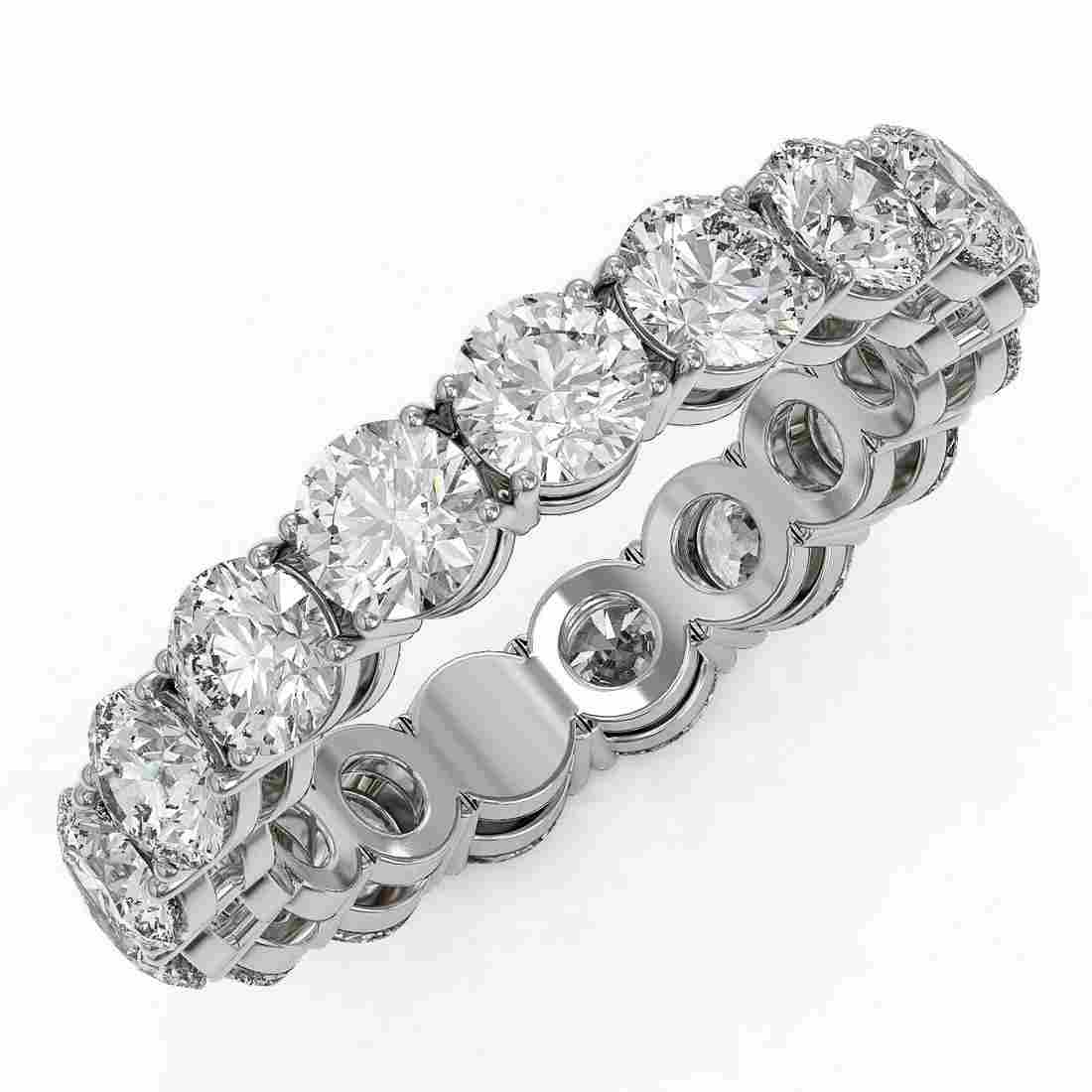 4.42 ctw Diamond Designer Eternity Ring 18K White Gold