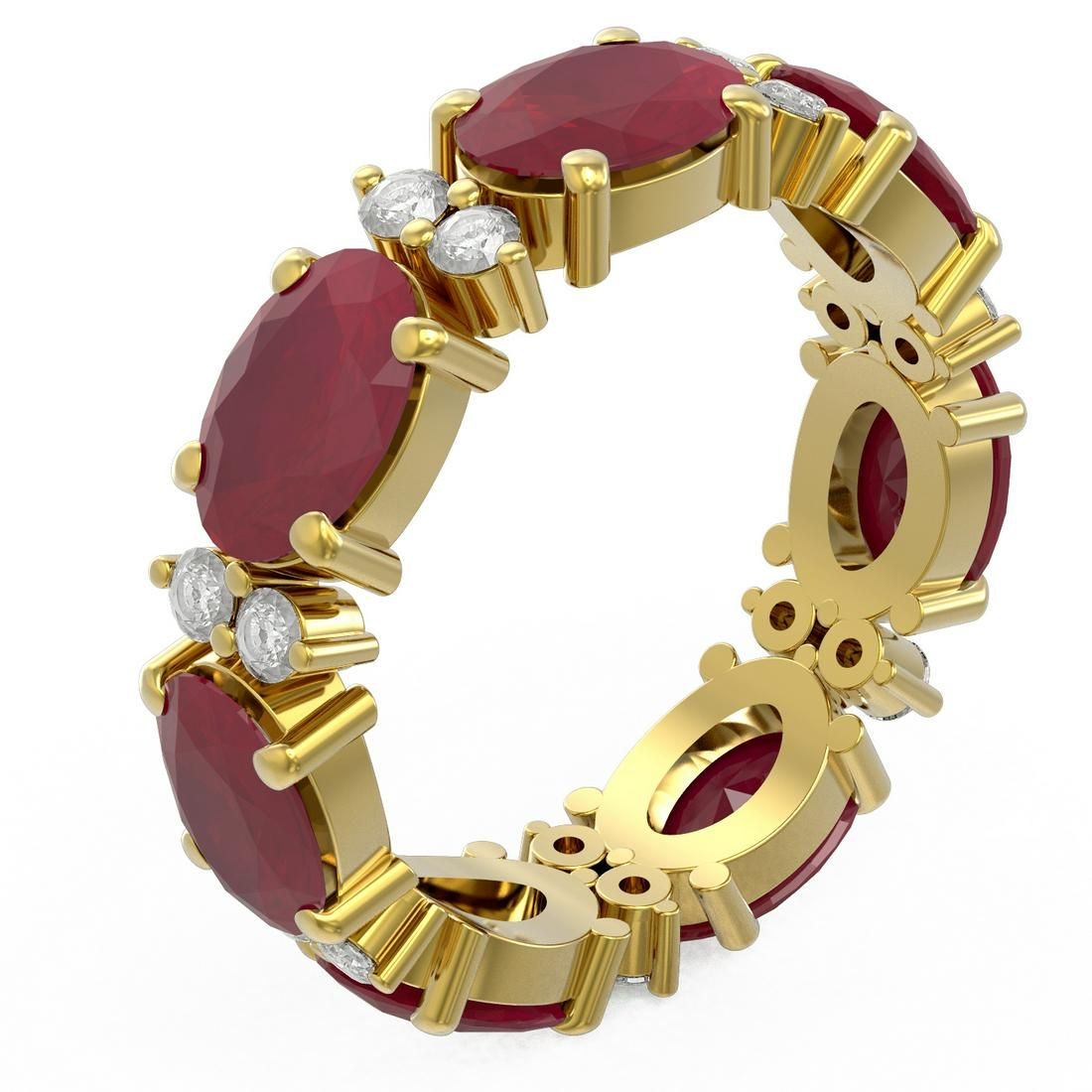 8.62 ctw Ruby Ring 18K Yellow Gold - REF-114N9F