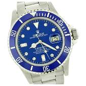 Rolex Mens Submariner QuickSet Diam Dial w