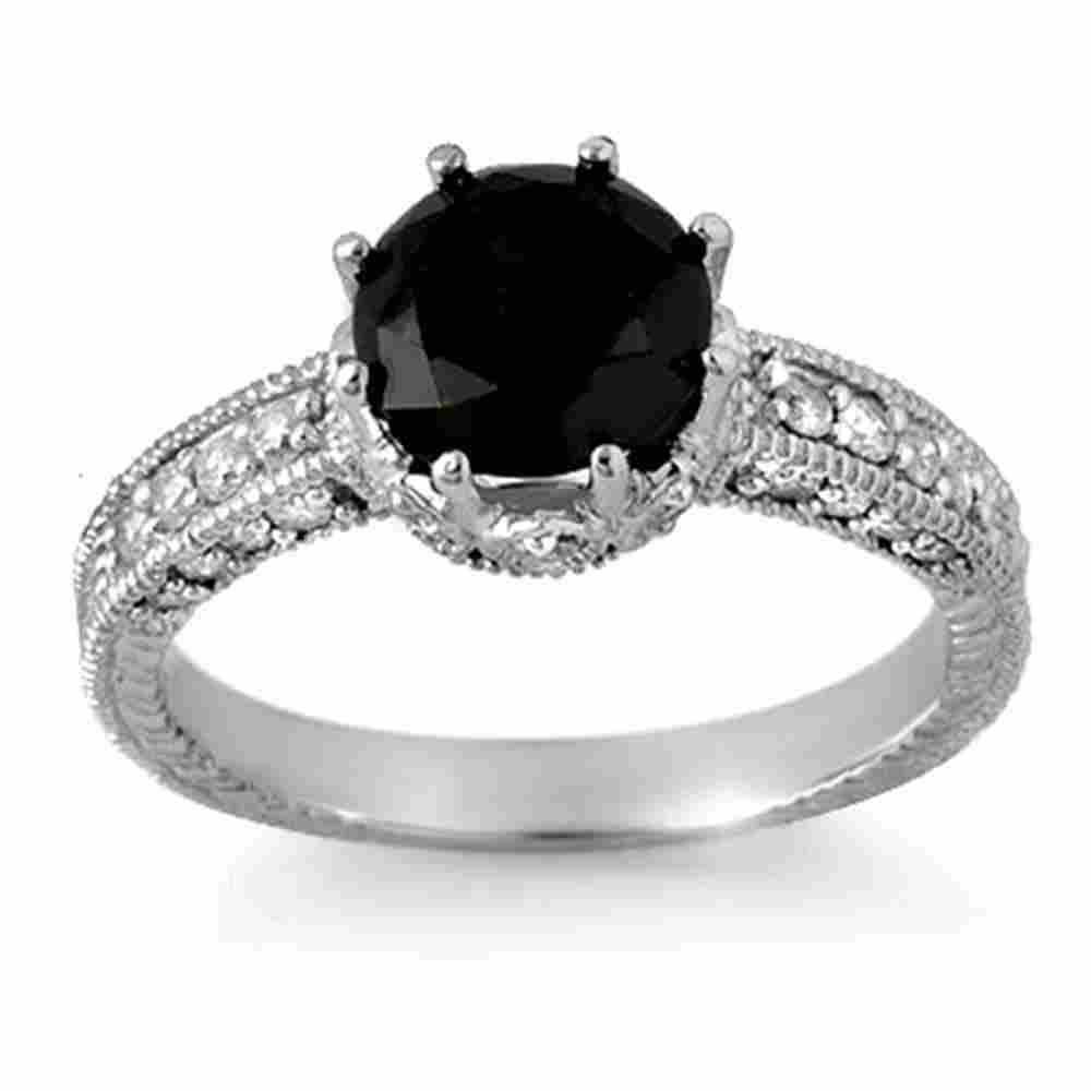 2.0 ctw VS Certified Black & White Diamond Ring 18k