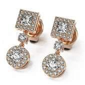 172 ctw Princess Cut Diamond Designer Earrings 18K