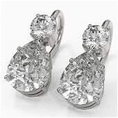 25 ctw Pear Cut Diamond Designer Earrings 18K White