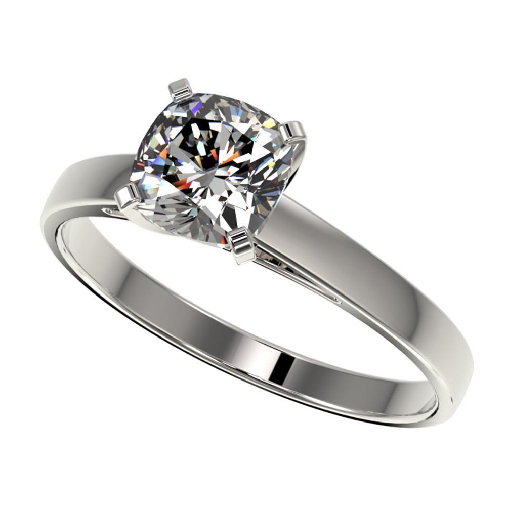 1 ctw Certified VS/SI Quality Cushion Cut Diamond Ring