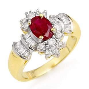 1.78 ctw Ruby & Diamond Ring 14k Yellow Gold -