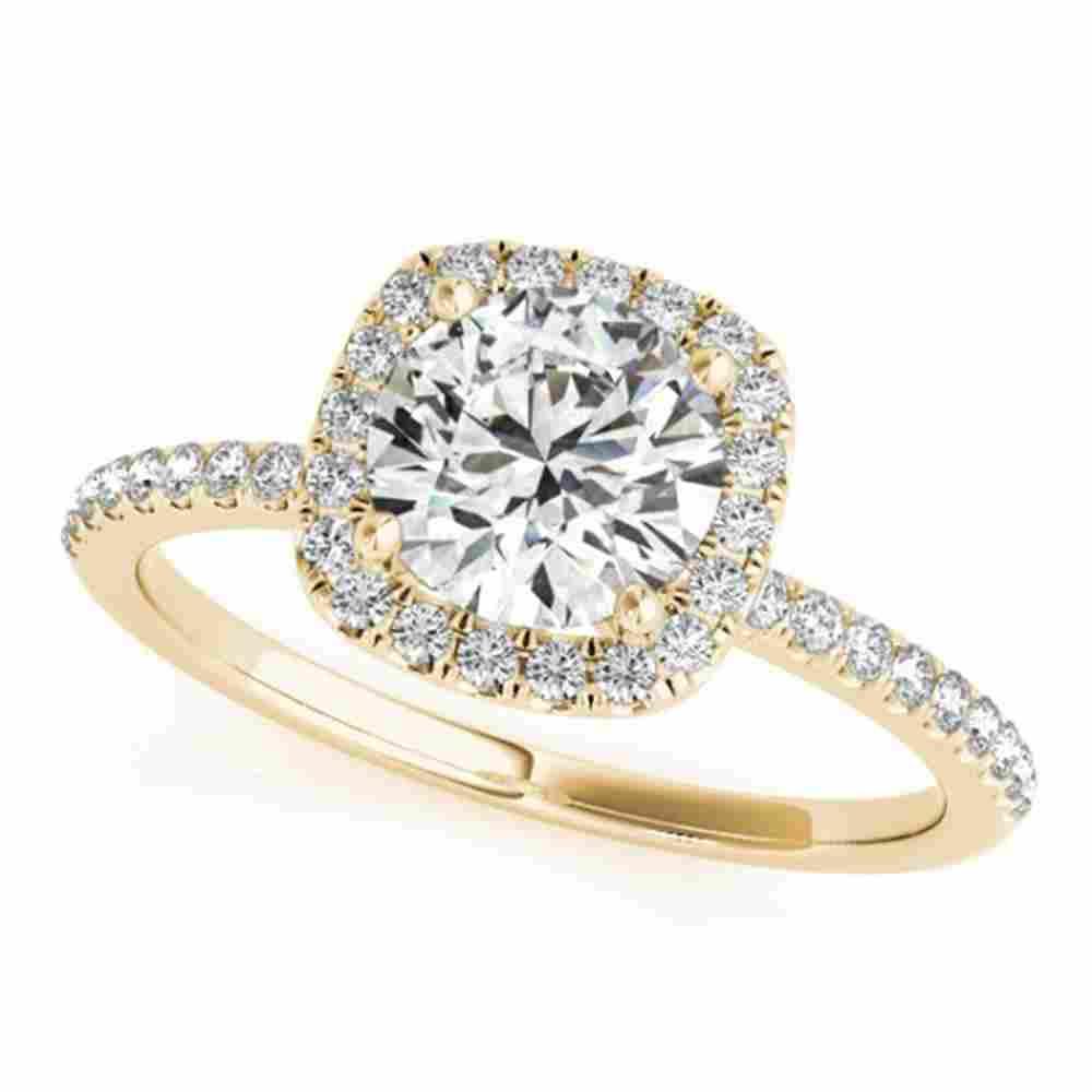 1 ctw Certified VS/SI Diamond Halo Ring 18k Yellow Gold