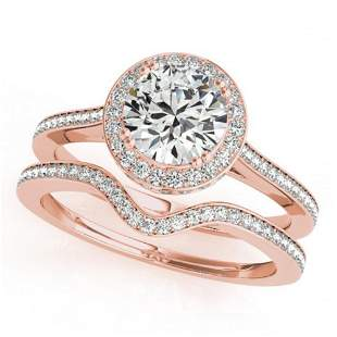 1.80 ctw Certified VS/SI Diamond 2pc Wedding Set Halo