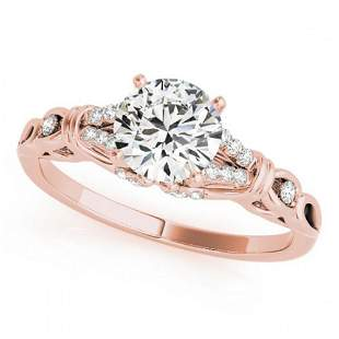 0.95 ctw Certified VS/SI Diamond Ring 18k Rose Gold -
