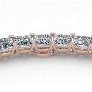 50 ctw Princess Certified SI Diamond Necklace 14K White