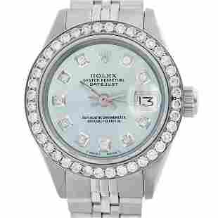 Rolex Ladies Stainless Steel, Diamond Dial & Diamond