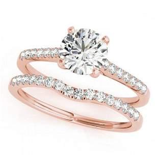 0.85 ctw Certified VS/SI Diamond 2pc Wedding Set 14k
