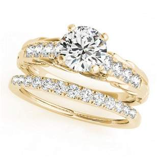0.79 ctw Certified VS/SI Diamond 2pc Wedding Set 14k