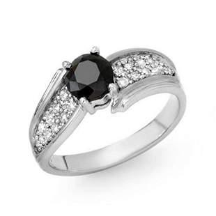 1.40 ctw VS Certified Black & White Diamond Ring 18k