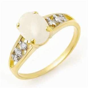 0.95 ctw Opal & Diamond Ring 10k Yellow Gold -