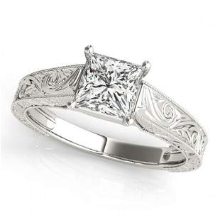 0.75 ctw Certified VS/SI Princess Diamond Ring 18k