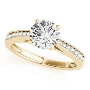 0.92 ctw Certified VS/SI Diamond Ring 18k Yellow Gold -