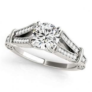 1 ctw Certified VS/SI Diamond Antique Ring 18k White