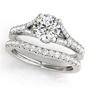 1.31 ctw Certified VS/SI Diamond 2pc Wedding Set 14k