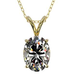 1.25 ctw Certified VS/SI Quality Oval Diamond Necklace