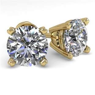 2.0 ctw VS/SI Diamond Stud Designer Earrings 14k Yellow