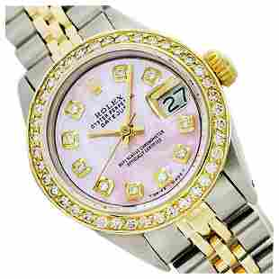 Rolex Ladies Two Tone 14K Gold/SS, Diamond Dial,