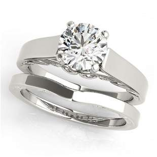 1 ctw Certified VS/SI Diamond Solitaire 2pc Wedding Set