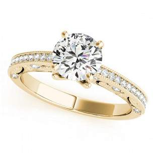 1 ctw Certified VS/SI Diamond Antique Ring 18k Yellow