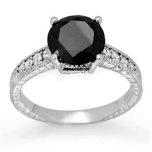 3.0 ctw VS Certified Black & White Diamond Solitaire