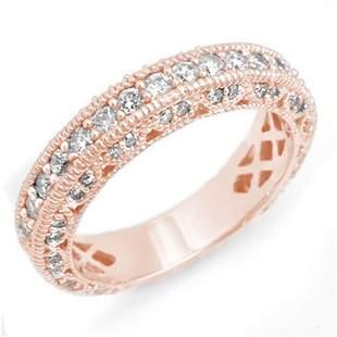 1.10 ctw Certified VS/SI Diamond Band 14k Rose Gold -