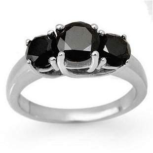 2.50 ctw VS Certified Black & White Diamond 3 Stone