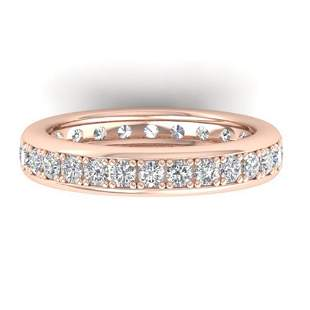 1.33 ctw Certified VS/SI Diamond Eternity Band 14k Rose