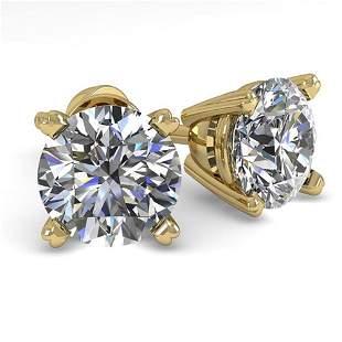 1.50 ctw VS/SI Diamond Stud Designer Earrings 14k