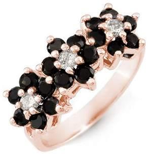 1.25 ctw VS Certified Black & White Diamond Ring 18k