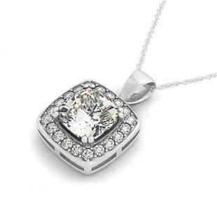 0.75 ctw Cushion Cut Certified VS/SI Diamond Necklace