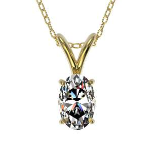 0.50 ctw Certified VS/SI Quality Oval Diamond Necklace